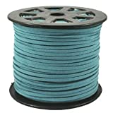 Turquoise Blue Faux Leather Suede Beading Cord 10 Feet - Ultra Microfiber