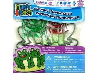 Colorbok Makit & Bakit Suncatcher Kit Glowing Frogs - 1