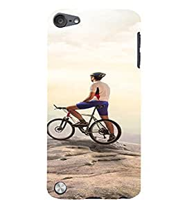 PrintVisa Sports Cycling Adventure Design 3D Hard Polycarbonate Designer Back Case Cover for Apple iPod Touch 5