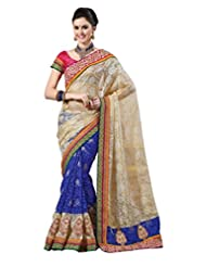 De Marca Off-White Net Festive Wear 7113 Saree