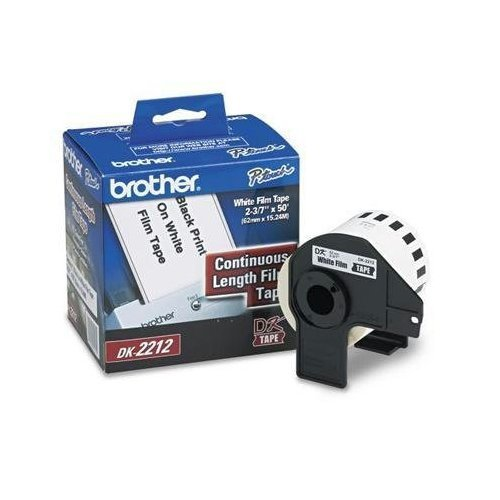 "Brother Dk-2212 Continuous Length Film Label Roll (2-3/7"" Wide) - Retail Packaging"