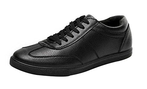 tmates-mens-breathable-lace-up-round-toe-casual-pu-fashion-sneakers-7-bmusblack