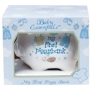 Baby Essentials My First Piggy Bank White/boys