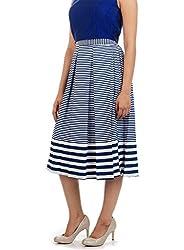 Myrah Women's Pleated Skirt (Amz002_Multicolor_S)