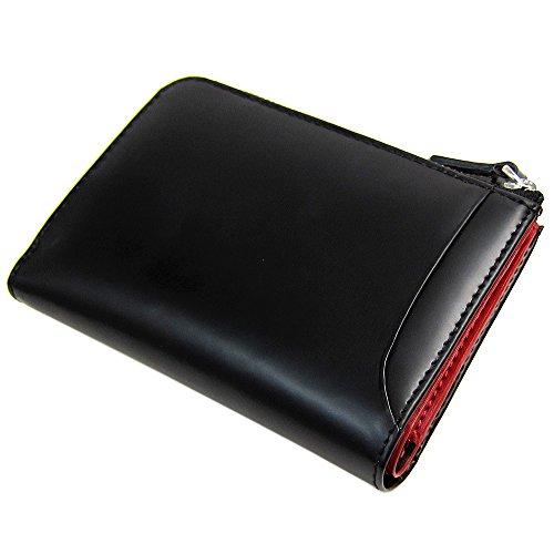[マトゥーリ]Maturi エグゼクティブ コードバン×牛床革 多機能 キーケース 財布 小銭 MR-131 黒/赤
