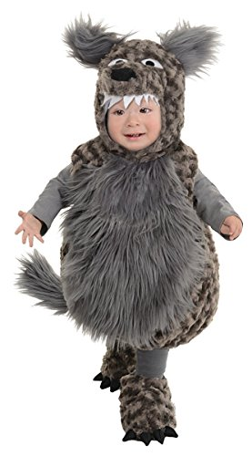Underwraps Baby's Wolf Belly, Dark Grey, Large