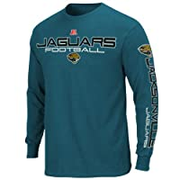 NFL Jacksonville Jaguars Primary Receiver III Long Sleeve T-Shirt - Teal by Nutmeg