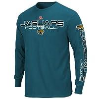 NFL Jacksonville Jaguars Primary Receiver III Long Sleeve T-Shirt - Teal by Nutmeg