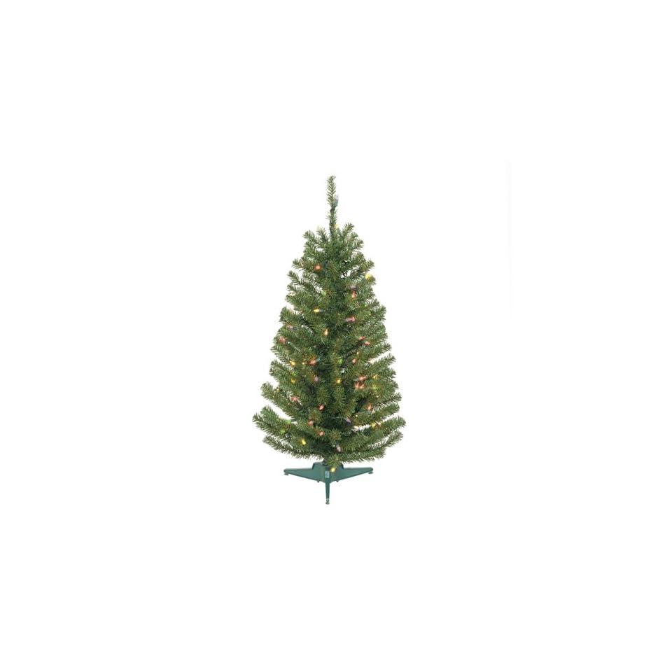 3.5 Pre Lit Balsam Fir Artificial Christmas Tree   Multi Lights