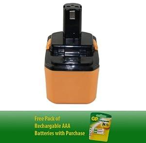 18V, 2000mAh ,NiCad, Ryobi 1323303 Battery - Superior Powertool Replacement Battery