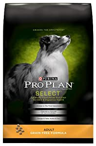 Purina Pro Plan Dry Dog Food, Select, Adult Grain Free Formula, 16-Pound Bag, Pack of 1