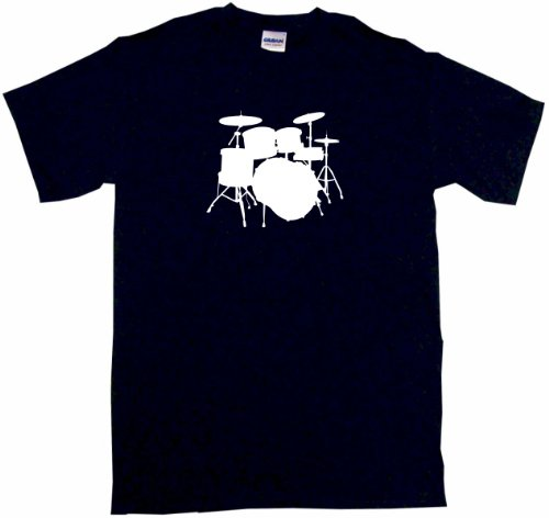 Drum Set Logo Drumset Kids Tee Shirt 3T-Black