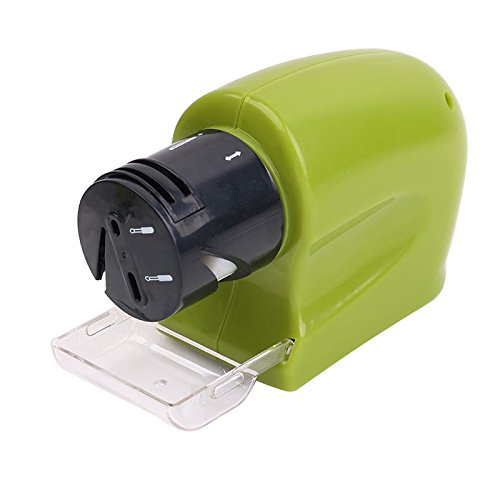 AIGUMI Multi-functional Electric Swifty Sharpener For Knife Blades Scissors Blades Screw Drivers Green Batteries Operated