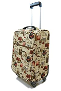 Tapestry canvas Travel Luggage/Overnight/Cabin bag/Suitcase 4 wheeled with retractable handle (Boutique) - Gobelin Style