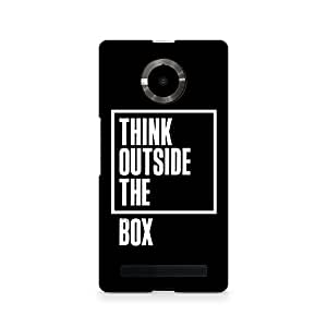 Motivatebox- Outside the Box Premium Printed Case For Micromax YU Yuphoria -Matte Polycarbonate 3D Hard case Mobile Cell Phone Protective BACK CASE COVER. Hard Shockproof Scratch-