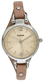 Fossil Women's Quartz Watch Ladies Dress ES2830 with Leather Strap