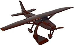 Civilian Aircraft Model Cessna 182 - Wooden Airplane Model Kit Living Room Decoration - A Perfect Home Gift