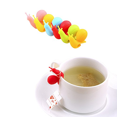 Futaba Snail Shape Tea Bag Holder - 4 pcs