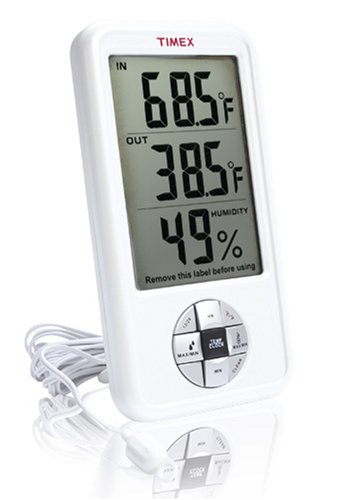 Timex TX5170 Indoor/Outdoor Thermometer with Indoor Hygrometer and Clock