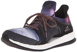 adidas Women\'s Pure Boost X TR W Training Shoe, Black/Dark Grey/Sun Glow Yellow, 6 M US