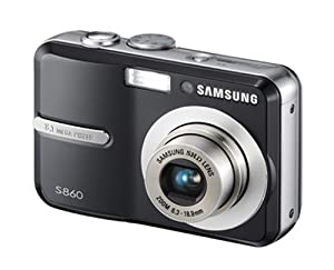 Samsung S860 8.1MP Digital Camera with 3x Optical Zoom (Black)