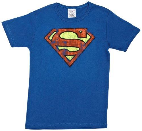 Logoshirt - Superman logo, T-shirt per bimbi, Blu (Azure Blue), 18 Monat