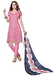 RK Exports Baby Pink Dress Material