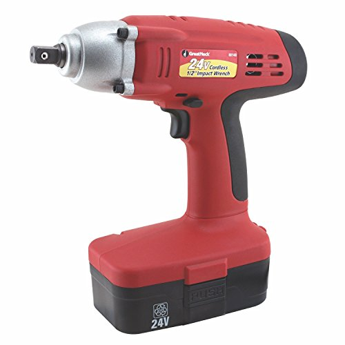 Sale!! GreatNeck 24 Volt Cordless 1/2 Inch Impact Wrench with 2 Batteries