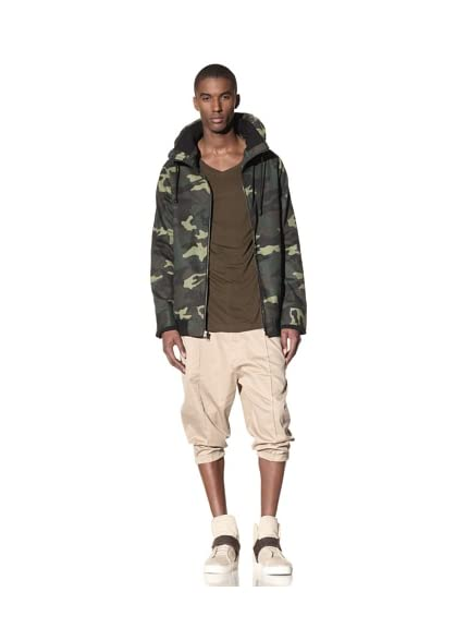 B: Scott Men's Camo Twill Mid Mock Jacket