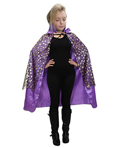 Fantasy World Girl's DE13 Witch Cape Purple Halloween Costume