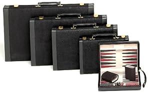 """Magnetic Black Suede Backgammon Set - 9"""""""