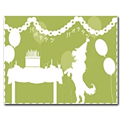 Happy Birthday - Set of 10 Pop-up Style Invitations