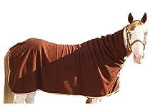 Derby Originals Supremo Heavy Weight Fleece Horse Cooler, Chocolate, Large