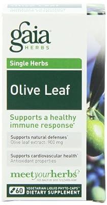 Gaia Herbs Olive Leaf, 60-capsule Bottle from Gaia Herbs
