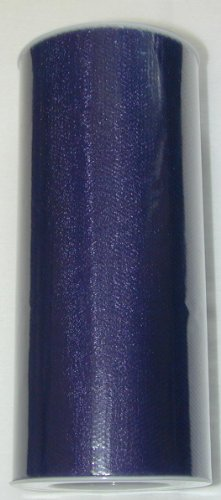 """6"""" X 25 Yard Roll Of Navy Blue Tulle Fabric"""