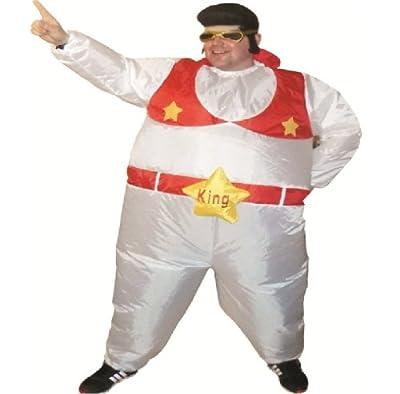 Erwachsene Aufblasbar Fett Elvis Verkleidung Kostm Kleidung bei aufblasbar.de