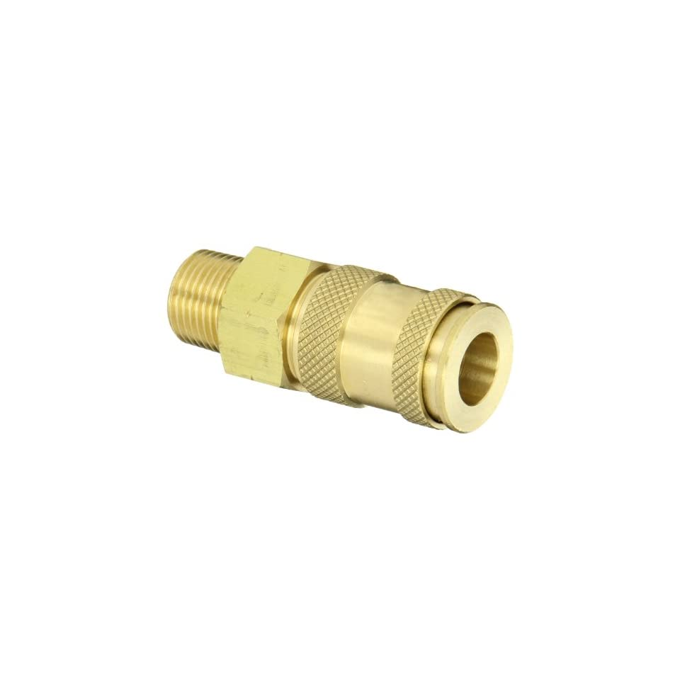 Dixon Valve UDC2103 Brass Air Chief Universal Quick Connect Air Hose Socket, 1/4 Coupler x 3/8 NPT Male Thread, 37 CFM Flow Rating