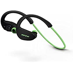 Mpow Cheetah Auricolari Wireless Bluetooth 4.1 Headset Stereo Cuffie Sport con Microfono e AptX Headphone per iPhone 6s plus/6s, iPhone 6/6 Plus, iPhone 5s/5c/5/4s, iPad, LG G2, Samsung Galaxy S6 Edge+/S6 Edge/S6/ S5/S4/S3, Note 4/Note 3/Note 2, Sony, Huawei ed altri Smartphone - Verde