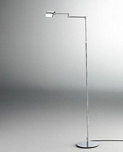 9680 Led Swing Arm Floor Lamp - 220 - 240V (For Use In Australia, Europe, Hong Kong Etc.), Chrome