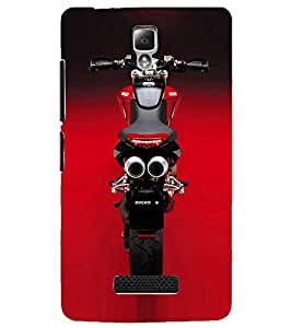 PrintDhaba Stunning Bike D-1153 Back Case Cover for LENOVO A2010 (Multi-Coloured)