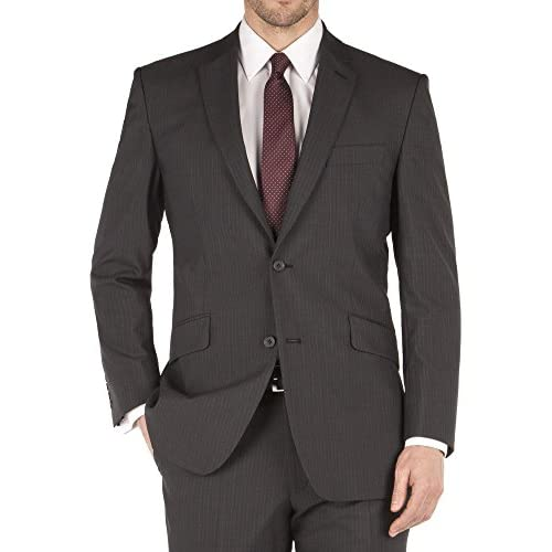 Suit Direct Aston & Gunn Grey Mohair Stripe Suit - Classic Single Breasted Regular Fit Two Piece Suit