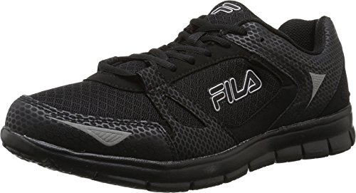 Fila Men's Nrg Black/Black/Metallic Silver Sneaker 10 D (M)