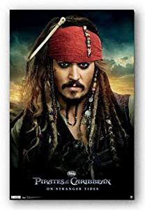 Pirates of the Caribbean 4 On Stranger Tides Movie Poster - Jack Sparrow (Johnny Depp)