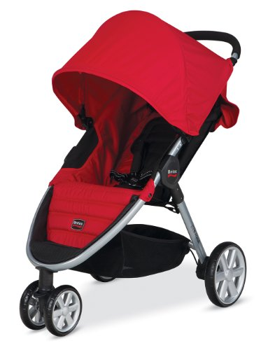 Britax 2014 B-Agile Stroller, Red back-694377