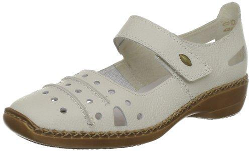 Rieker Doris Ballet Flats Womens White Weià (Sportweiss) Size: 3.5 (36 EU)