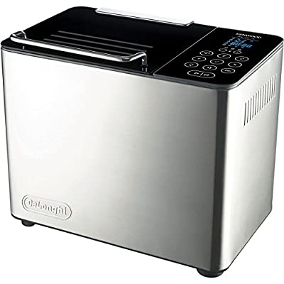 De'Longhi Brushed Metal Countertop Bread Maker - Model: DBM450 - 2 Pack Gift Bundle from Cuisinart