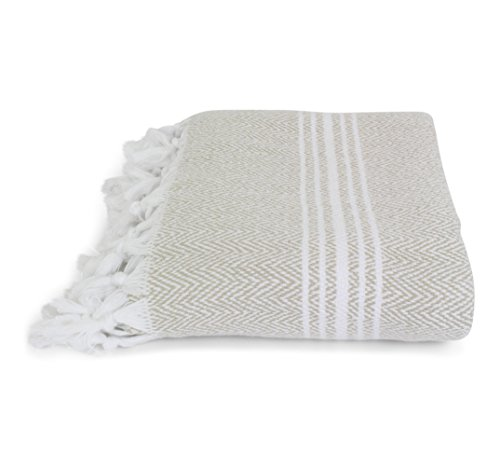 Lowest Prices! Organic, Incredibly Soft, Turkish Peshtemal Fouta Towel, 100% Cotton Herringbone for ...