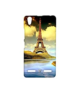 Vogueshell Eiffel Tower Printed Symmetry PRO Series Hard Back Case for Lenovo A6000