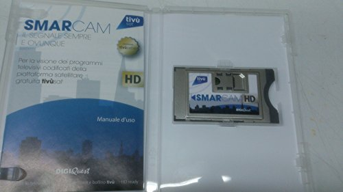 Digiquest Bundle Cam TIVUSAT SMARTCAM + smart card canali in chiaro e criptati (Rai, Mediaset, LA7)