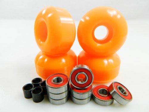 Buy Big Boy 52mm x 31mm Pro Skateboard Wheels (Orange) + ABEC 7 Bearings + Spacers by Big Boy